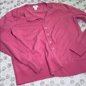 Old Navy Large Long Sleeve Pink Cardigan